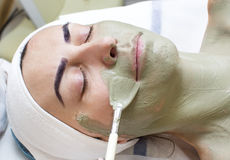 Masaż i twarzowe łupy zdjęcie stock