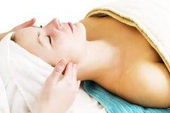 masaż twarzy zdjęcia stock