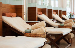 Masażu łóżko Zdjęcie Stock