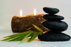 Masażu czerni i wyposażenia kamienie fotografia royalty free