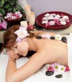 masażu gorący kamień fotografia stock