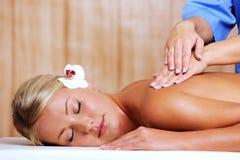 masażu salonu zdroju kobieta Fotografia Royalty Free