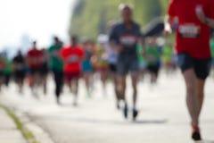 Masa borrosa de los corredores de maratón Foto de archivo
