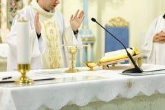 Masa católica Foto de archivo
