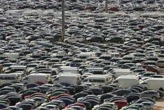 Masa de coches Fotografía de archivo