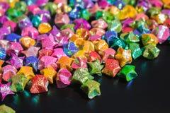 Masa del papel colorido de la estrella Fotografía de archivo libre de regalías