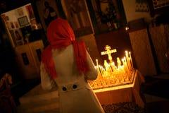 Masa ortodoxa de la Navidad Fotografía de archivo