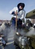 Masa-reunión en Saratov Imagen de archivo libre de regalías