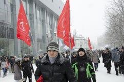 Masa-reunión a las oposiciones en Saratov. Imagen de archivo libre de regalías