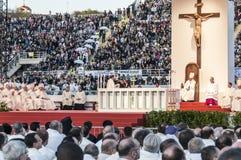 Masa santa con papa Francisco Imagen de archivo