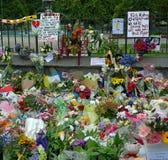 Masacre de las mezquitas de Christchurch - mensajes de la solidaridad foto de archivo