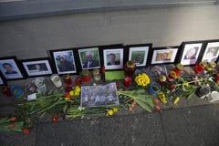 Masacre en el cuadrado de Maidan, Kiev Imágenes de archivo libres de regalías