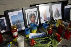 Masacre en el cuadrado de Maidan, Kiev Foto de archivo