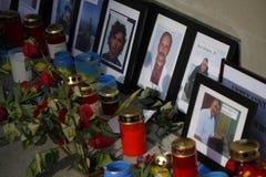 Masacre en el cuadrado de Maidan, Kiev Imagenes de archivo