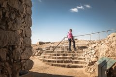 masada国立公园Ruines  免版税库存图片