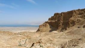 Masada堡垒山。 库存照片
