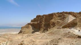 Masada堡垒站点。 免版税图库摄影