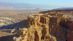 masada Старое городище в южном районе Израиля Национальный парк Masada в области мертвого моря Израиля стоковое фото rf