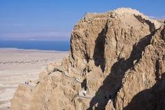 Masada. A view to masada and the dead sea - Israel stock photo