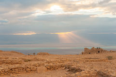 Masada ancient fort Royalty Free Stock Photography