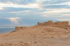 Masada ancient fort Royalty Free Stock Photo