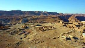 masada Antyczna fortyfikacja w Po?udniowym okr?gu Izrael Masada park narodowy w Nie?ywego morza regionie Izrael fotografia stock