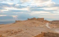 Masada antyczny fort Zdjęcia Royalty Free