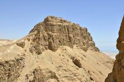 Masada berg, Israel. arkivbild