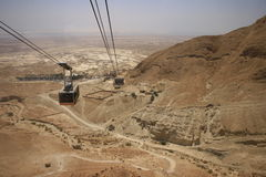 Masada cable car Stock Photography
