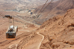 Masada cableway - Israel Stock Photo