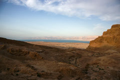 Masada and Dead sea Royalty Free Stock Photography