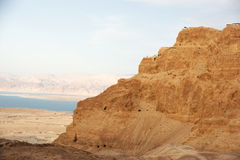 Masada and Dead sea Royalty Free Stock Image