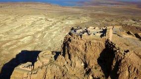 masada Den forntida bef?stningen i det sydliga omr?det av Israel Masada nationalpark i regionen f?r d?tt hav av Israel royaltyfria bilder