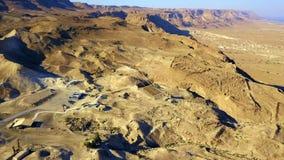 masada Den forntida bef?stningen i det sydliga omr?det av Israel Masada nationalpark i regionen f?r d?tt hav av Israel arkivfoto