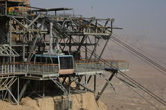 Masada, der Autoseilzug Stockfotografie