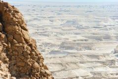 Masada Desert. View of desert from Masada, Israel Stock Images