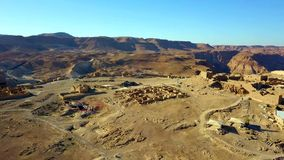 masada El fortalecimiento antiguo en el distrito meridional de Israel Parque nacional de Masada en la regi?n del mar muerto de Is fotografía de archivo