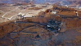 masada El fortalecimiento antiguo en el distrito meridional de Israel Parque nacional de Masada en la regi?n del mar muerto de Is foto de archivo libre de regalías