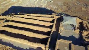 masada El fortalecimiento antiguo en el distrito meridional de Israel Parque nacional de Masada en la regi?n del mar muerto de Is imagen de archivo libre de regalías