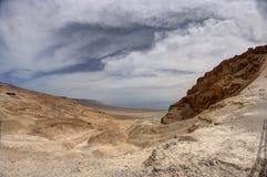 Masada en Dode overzees royalty-vrije stock afbeelding
