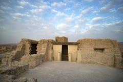 Masada est une forteresse antique outre de la côte du sud-ouest de la mer morte, en Israël Près de la ville d'Arad, chez l'Ein Ge photo stock