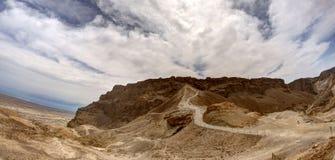 Masada fästning royaltyfria bilder