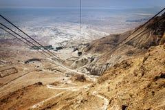 Masada fästning i Israel royaltyfri fotografi