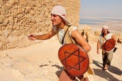 Masada fästning Israel arkivfoton