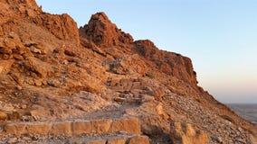 Masada fästning judean öken Arkivfoton