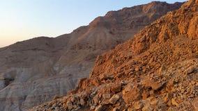 Masada fästning judean öken Arkivbilder