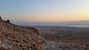 Masada fästning judean öken Arkivfoto