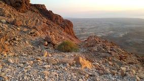 Masada fästning judean öken Royaltyfri Fotografi