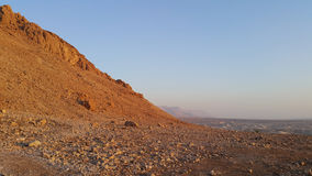 Masada fästning judean öken Arkivbild