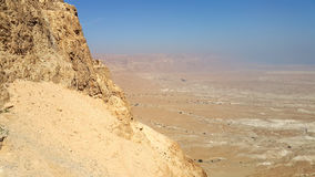 Masada fästning judean öken Fotografering för Bildbyråer